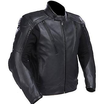 Mens Motorcycle Leather Jacket W/ Vents