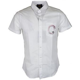Cavalli Class Popeline Yuppie Soft Slim Fit White Cotton Shirt