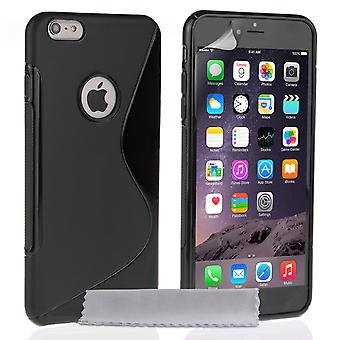 Caseflex Iphone Plus 6 et 6 s Plus Etui en Silicone Gel S-Line - noir