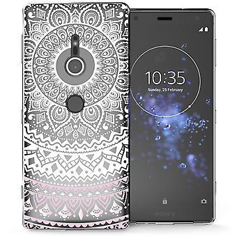 Sony Xperia XZ2 Mandala TPU Gel Case - wit