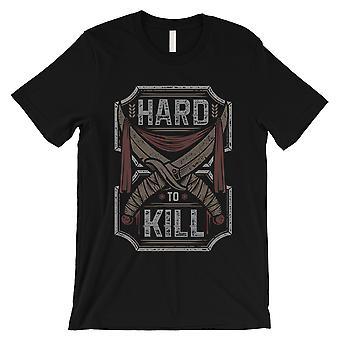 Difficile à tuer Mens Black Crew Neck T-Shirt Style rétro Unique Tee