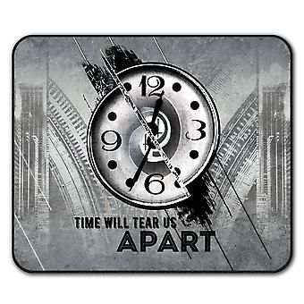 Reloj arte elegante ratón antideslizante alfombra Pad 24 cm x 20 cm | Wellcoda