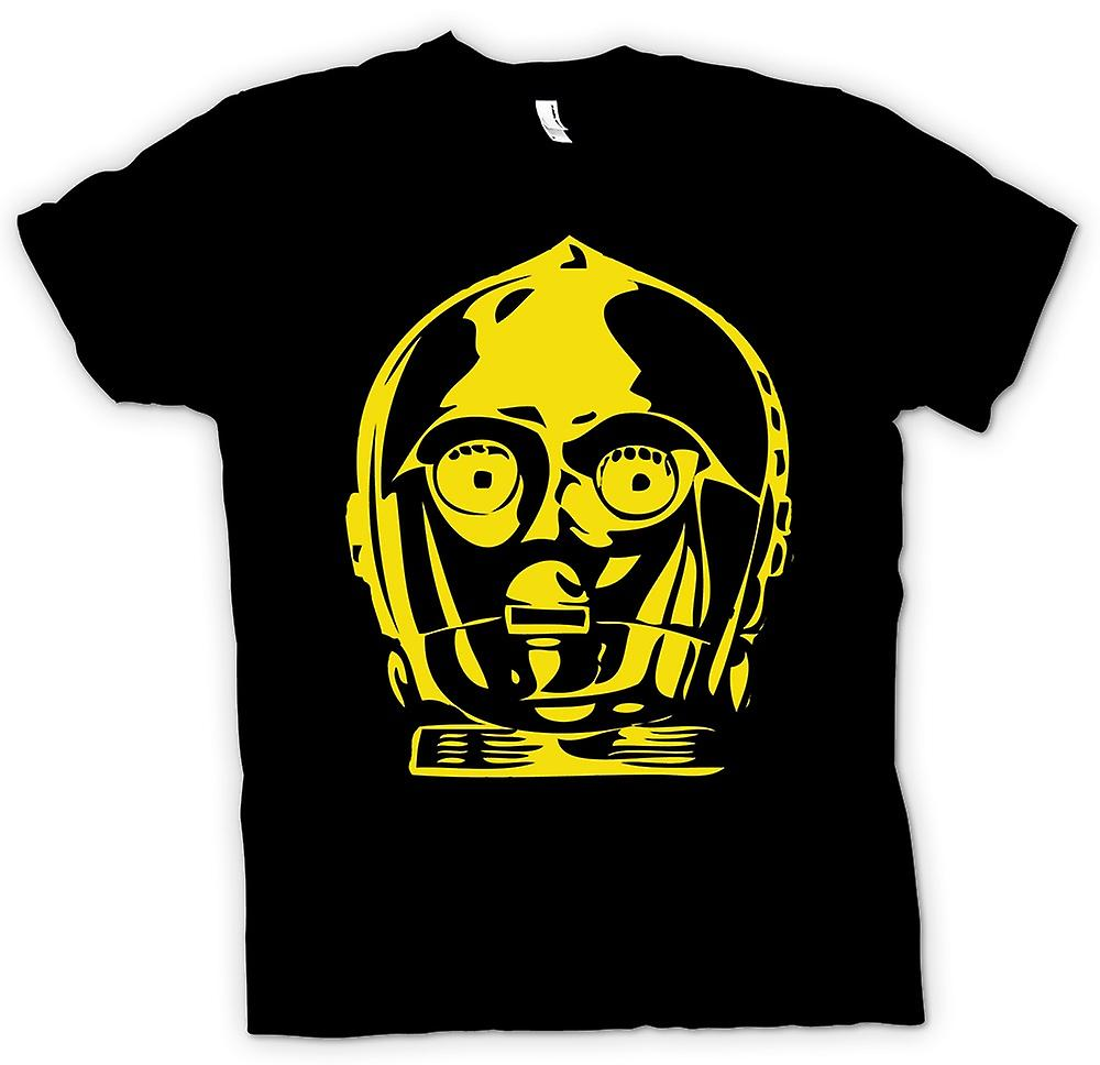 Mens t-shirt - C3PO testa - Star Wars