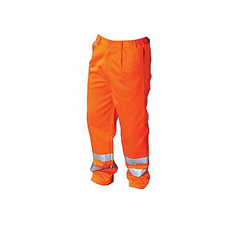 Yoko Workwear Mens Hi-Vis Polycotton Work Trouser (Long)