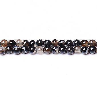 Strand 160 + czarny Banded zwykły koraliki okrągłe 2mm Agat CB31264-1
