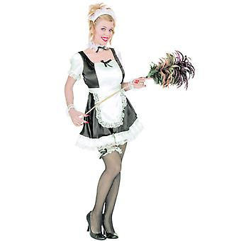 French Maid Dominique (Dress Apron Hat Jewellery Garter)