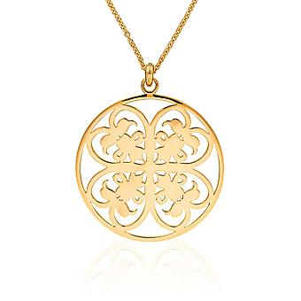 Orphelia Silver 925 Chain With Pendant Big Circle Goldplated  ZH-6035/2