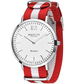 MADISON NEW YORK Unisex Watch wristwatch Avenue textile G4741G1