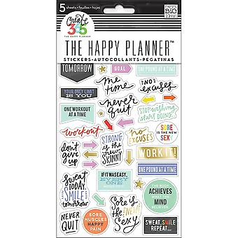 Create 365 Happy Planner Stickers 5/Sheets -Fitness