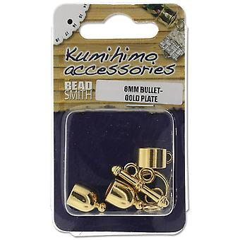 Kumihimo Bullet Finding Set 6mm-Gold-Plated