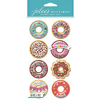 Jolee's Boutique Dimensional Stickers-Donut Snow Globes