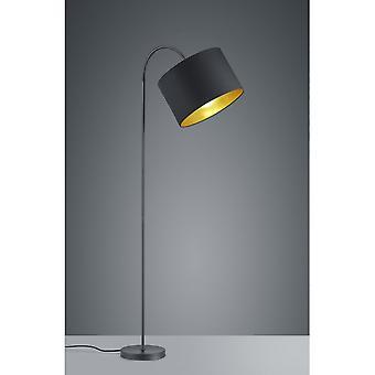 مصباح الطابق الحديثة بلاك ميتال مات نزل الإضاءة الثلاثي