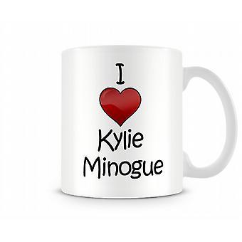 Kylie Minogue imprimé J'aime la tasse