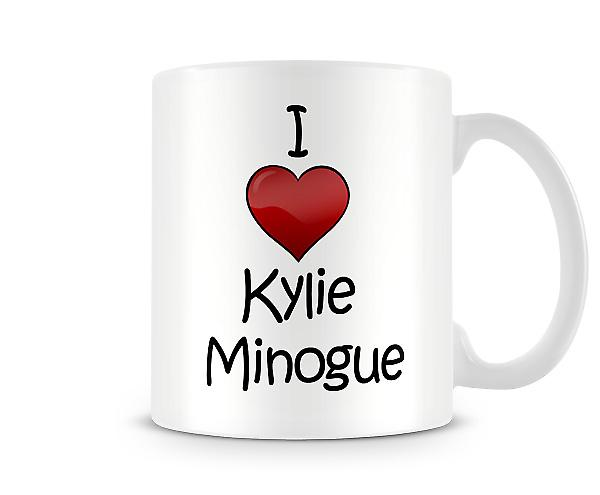 I Love Kylie Minogue Printed Mug