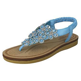 Ladies Savannah Low Wedge Toepost Sandals F0984   *** WAITING FOR PHOTOS ***