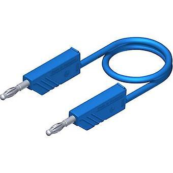 SKS Hirschmann CO MLN 50/2,5 Test lead [Banana jack 4 mm - Banana jack 4 mm] 0.5 m Blue