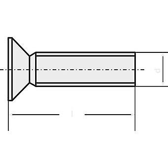 TOOLCRAFT M2 * 6 D965-4.8-A2K 194772 100-STCK. / PACK Underskrudde skruer M2 6 mm spor DIN 965 stål sink belagt 100 eller flere PCer