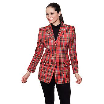 Ladies jacket style DB713 Royal Stuart Red Check