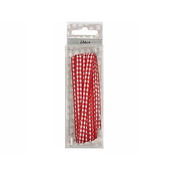 9mm Gingham Red & White Ribbon for Crafts - 5m | Ribbons & Bows for Crafts