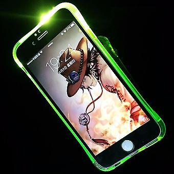 Mobile Shell LED Licht call for mobile Samsung Galaxy S6 Edge Grün