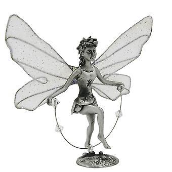 Figure figures Florencia Dekoelfe pewter, Elf with skipping rope