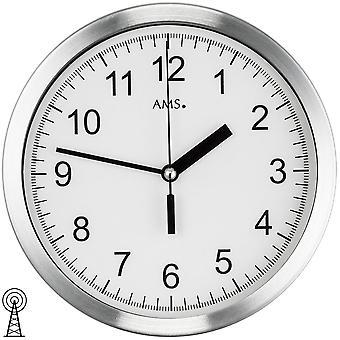 7fdec6f63 الإذاعة التي تسيطر عليها الجدار ساعة الجدار ساعة إذاعة معدني من الألمنيوم  المصقول