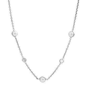 Orphelia Silver 925 Necklace with Pearl and Zirconium 40+4 cm