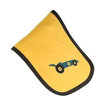 Żółty & niebieski wyścigi samochodów burp tkanina