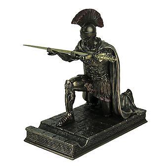 Roman Commander Kneeling Letter Opener / Pen Holder Bronze Finish Statue