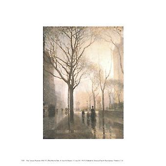 Plaza nach Regen Poster Print von Paul Cornoyer (8 x 10)