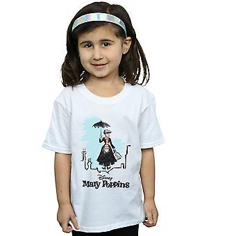 Disney Mädchen Mary Poppins Rooftop Landung Farbe T-Shirt