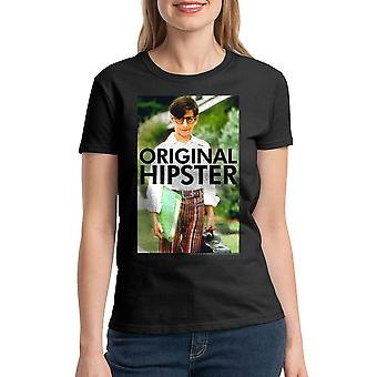 The Wonder Years Original Hipster Women's Black T-shirt
