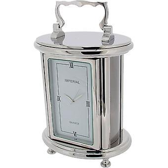 Reloj de escritorio de regalo tiempo productos pesado carro Oval - plata