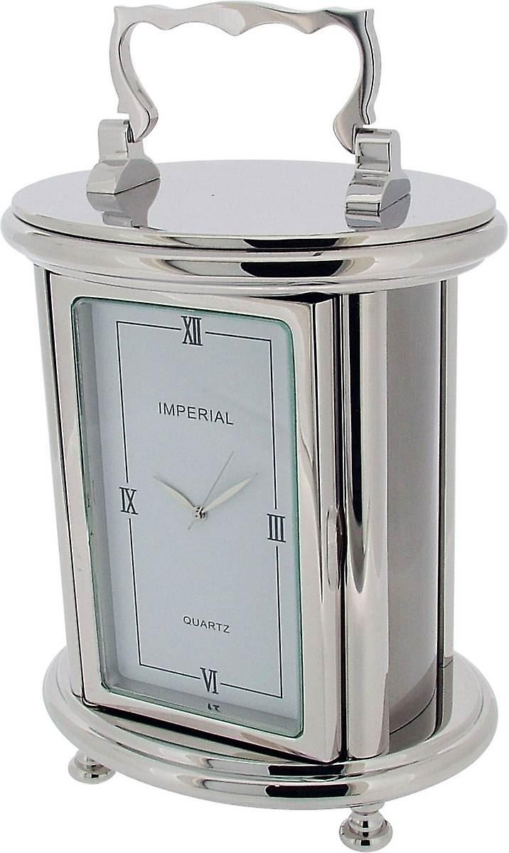 Gift Time Products Heavy Oval voitureriage Desk Clock - argent
