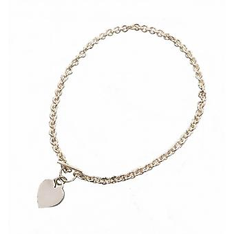 Cavendish French Sterling Silver Heart Charm Necklace