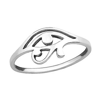Eye Of Horus - 925 Sterling Silver Plain Rings - W36758x