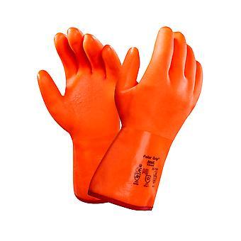 Ansell 23-700 Orange Fully Coated Insulated Polar Grip Glove
