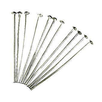 Paquete 250 + antiguo hierro plateado plata alfileres de cabeza plana 0,7 x 35mm HA11845
