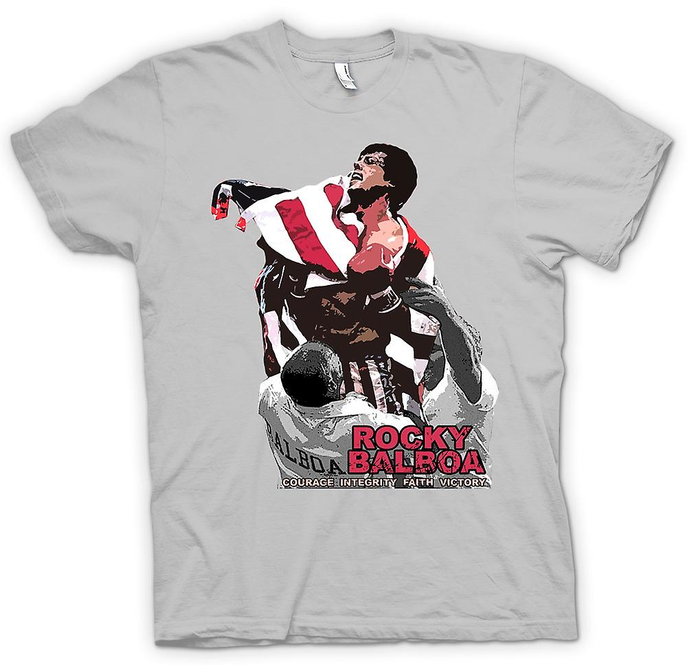 Mens T-shirt - Rocky Balboa - Mut - Boxen Movie