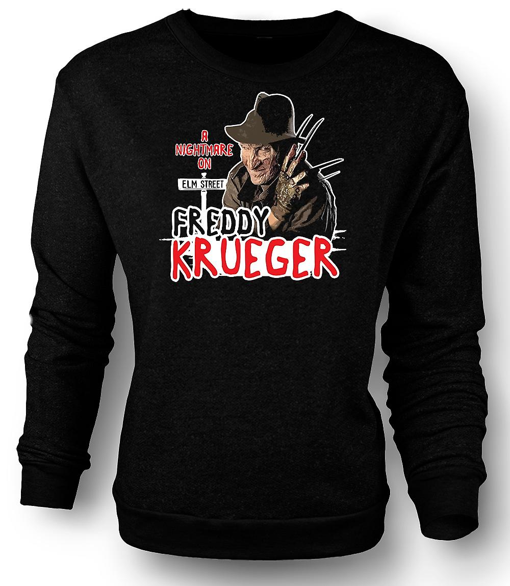Mens Sweatshirt Nightmare On Elmstreet - Freddy Krueger