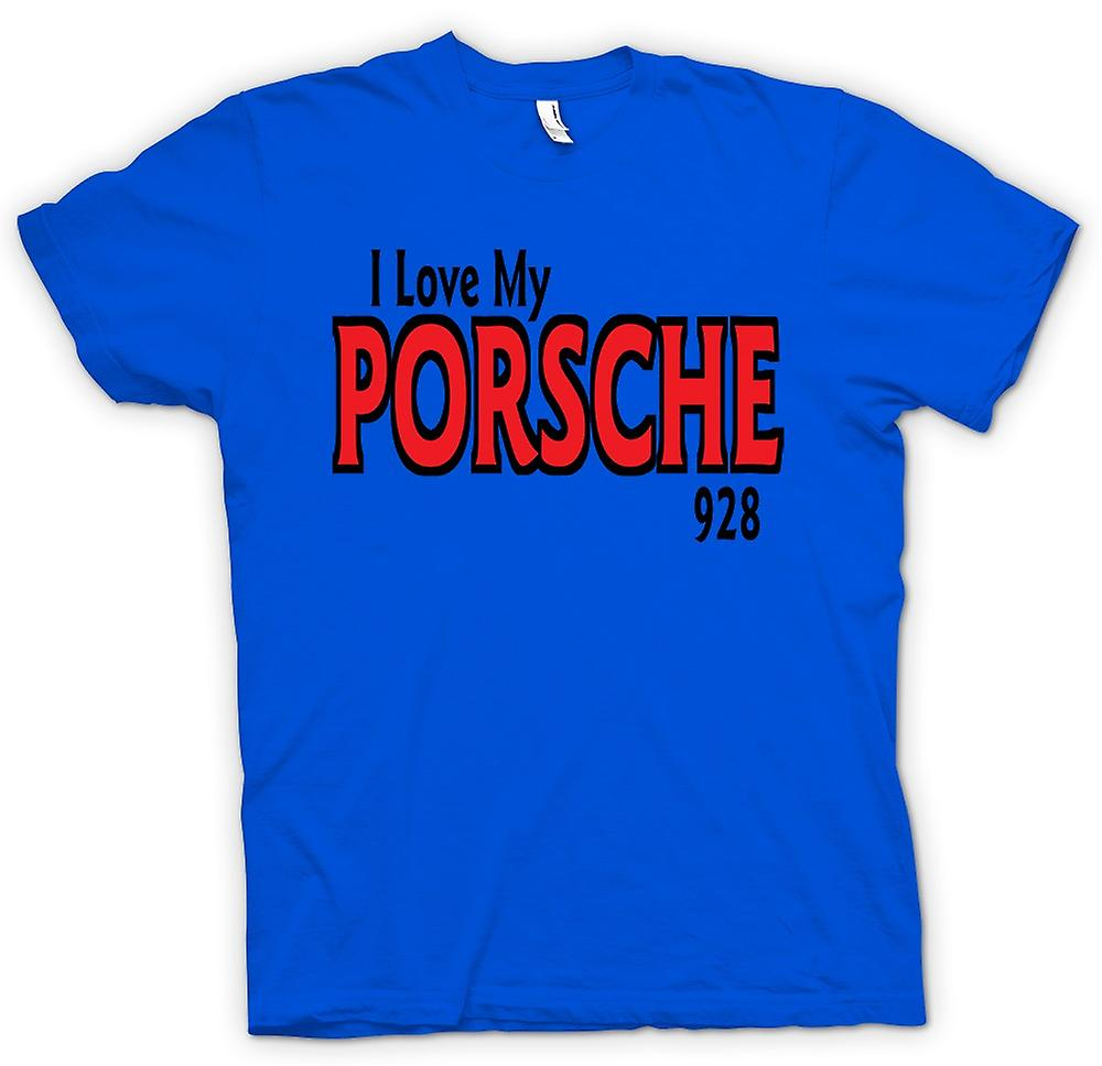 Mens T-shirt - I Love My Porsche 928 - Car Enthusiast