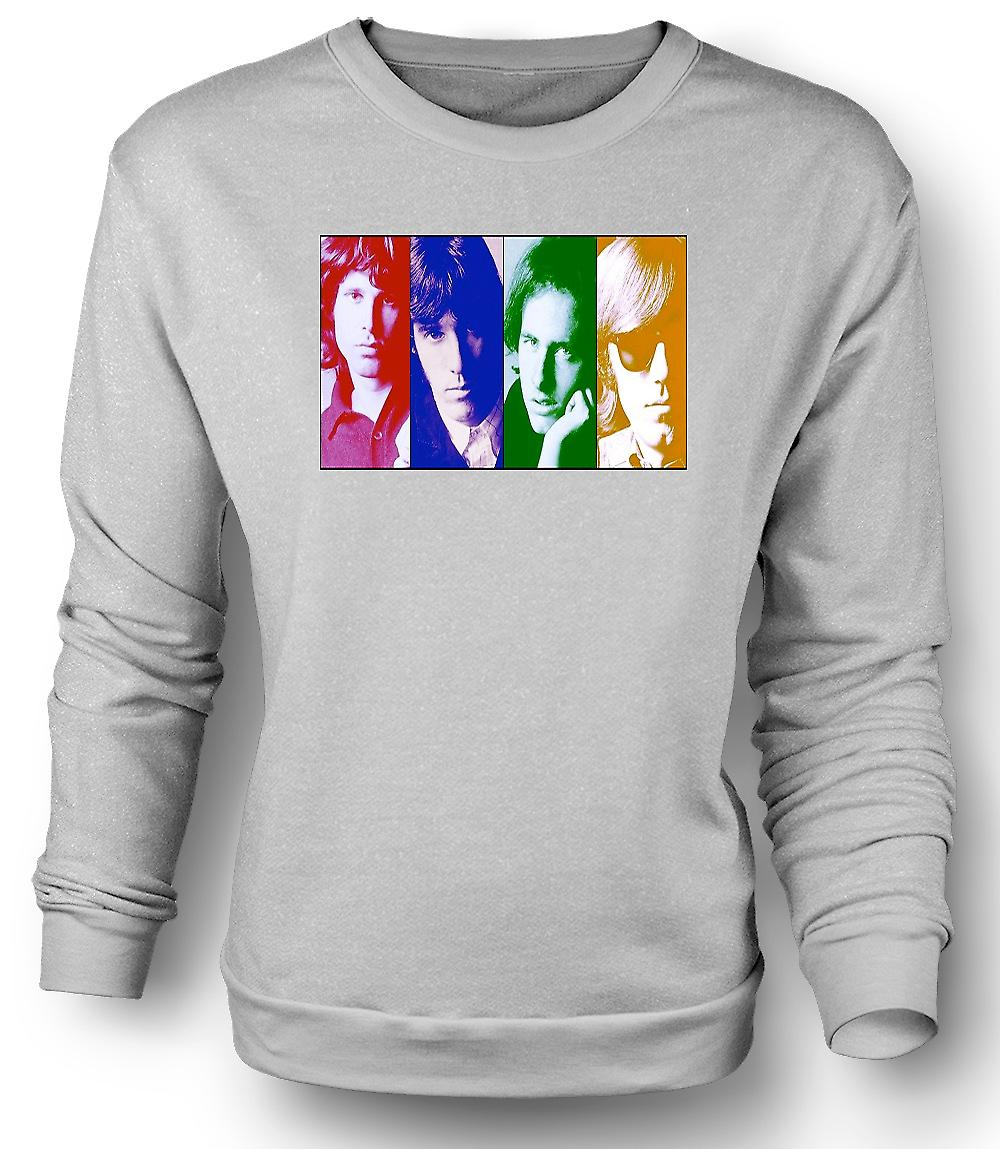 Mens Sweatshirt dörrar - Collage - Pop Art
