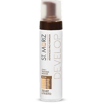 St. Moriz Advanced Pro Mousse Self Tanning 5 in 1 Medium 200 ml