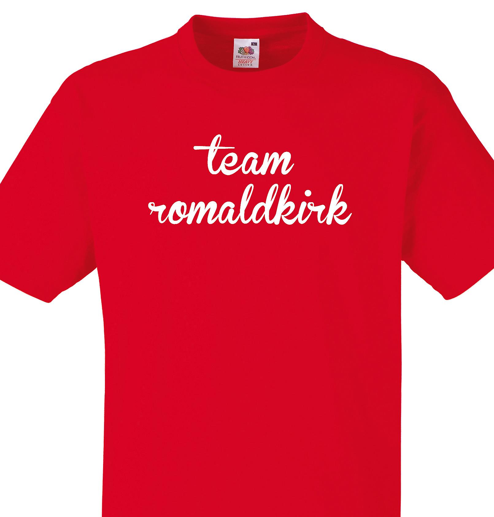 Team Romaldkirk Red T shirt