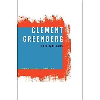 Clement Greenberg, späten Schriften