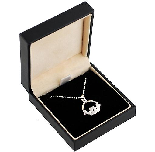 Silver 22mm Claddagh Pendant with a rolo Chain 14 inches Only Suitable for Children
