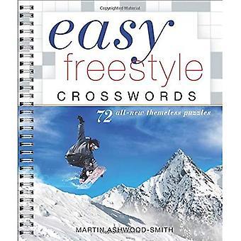 Crosswords Freestyle faciles: 72 Puzzles toute nouvelle Operation (mots croisés faciles)