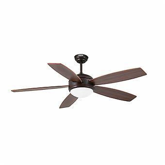 Faro - Vanu store mørke brune loft Fan med lys FARO33314