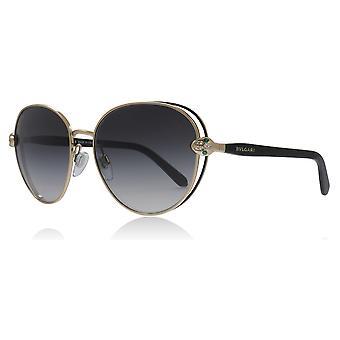 Bvlgari BV6087B 20238G sort/Pink guld BV6087B firkantet solbriller linse kategori 3 størrelse 57mm