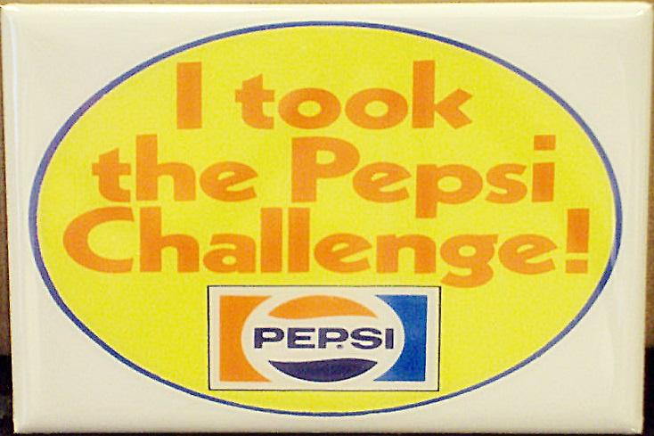 I Took The Pepsi Challenge steel fridge magnet   (gf)